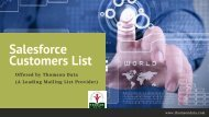 Salesforce Customers List