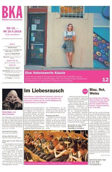 Berner Kulturagenda 2018 N°15