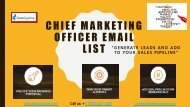 CMO Email List | CMO Email Database | Chief Marketing Officer Email List | Datacaptive