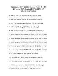 Bộ đề thi thử THPT QG 2018 Các môn TOÁN - LÍ - HÓA Các trường THPT Cả nước CÓ HƯỚNG DẪN GIẢI (Lần 10) [DC17042018]