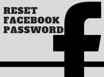 Reset Facebook Password -Easy Step Guide You Can't Miss!!!