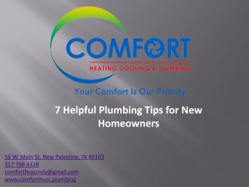 7 Helpful Plumbing Tips for New Homeowners