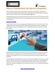 How to Find the Best Taxi Service Companies