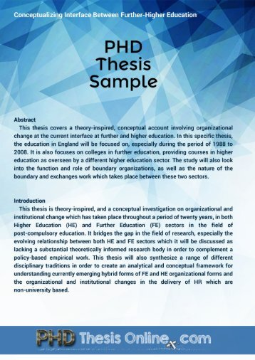 PhD Thesis Sample
