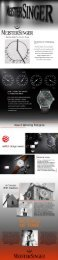 Mesitersinger Watches Infographic