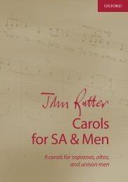 John Rutter Carols SA and Men