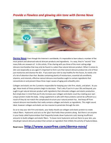 Remove your damage skin cells with Derma Nova
