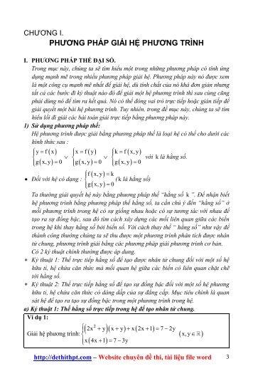 Sách tham khảo môn Toán - Tư duy logic tìm tòi lời giải hệ phương trình - Mai Xuân Vinh - FULLTEXT (535 trang)