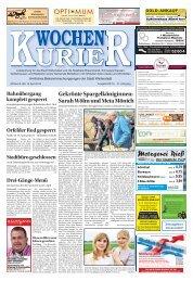 Wochen-Kurier 16/2018 - Lokalzeitung für Weiterstadt und Büttelborn