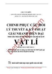 Sách tham khảo môn Vật Lý - Chinh Phục Câu Hỏi Lý Thuyết Và Kĩ Thuật Giải Nhanh Hiện Đại Vật Lý - Chu Văn Biên - FULLTEXT (799 trang)