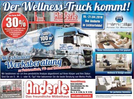 Der Wellness-Truck kommt