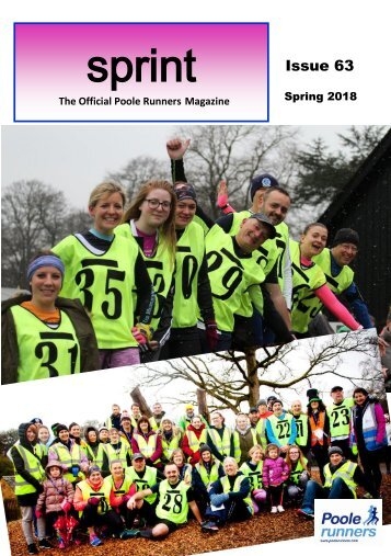 Poole Runners SPRINT magazine Issue 63 - Spring 2018