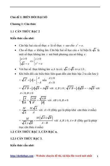 Sách tham khảo môn Toán - Các Chuyên Đề Bồi Dưỡng Học Sinh Giỏi Đại Số 9 - Nguyễn Trung Kiên - FULLTEXT (518 trang)