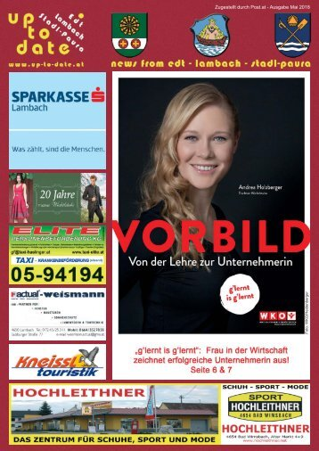 news from edt - lambach - stadl-paura Mai 2018