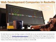 Web Development Companies in Rockville