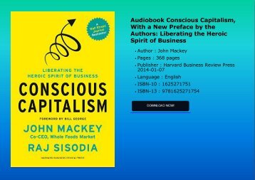Audiobook Conscious Capitalism, With a New Preface by the Authors: Liberating the Heroic Spirit of Business