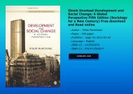 Ebook Dowload Development and Social Change: A Global Perspective Fifth Edition (Sociology for a New Century) Free download and Read online