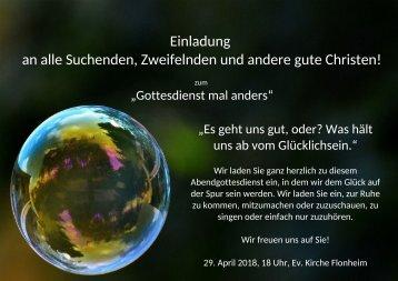 Plakat Seifenblase
