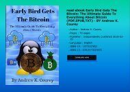 read ebook Early Bird Gets The Bitcoin: The Ultimate Guide To Everything About Bitcoin (PDF,EPUB,TXT) - BY Andrew K. Courey