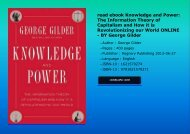 read ebook Knowledge and Power: The Information Theory of Capitalism and How it is Revolutionizing our World ONLINE - BY George Gilder