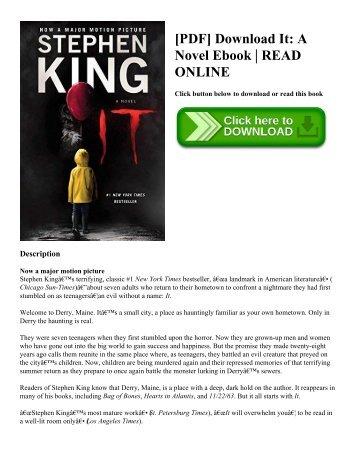 [PDF] Download It A Novel Ebook  READ ONLINE