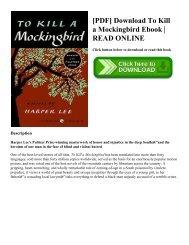 [PDF] Download To Kill a Mockingbird Ebook  READ ONLINE