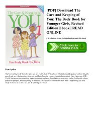 [PDF] Download The Care and Keeping of You The Body Book for Younger Girls  Revised Edition Ebook  READ ONLINE