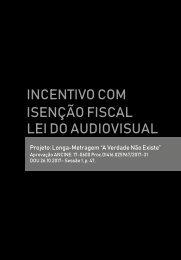 Incentivo com isenção fiscal pela Lei do audiovisual