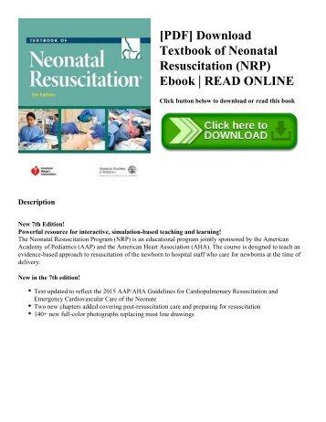 Neonatal resuscitation program nrp pdf download textbook of neonatal resuscitation nrp ebook read online fandeluxe Images