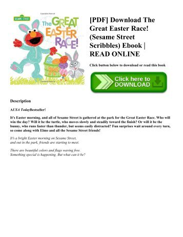 [PDF] Download The Great Easter Race! (Sesame Street Scribbles) Ebook  READ ONLINE