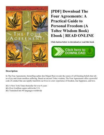 Pdf Download The Four Agreements A Practical Guide To Personal