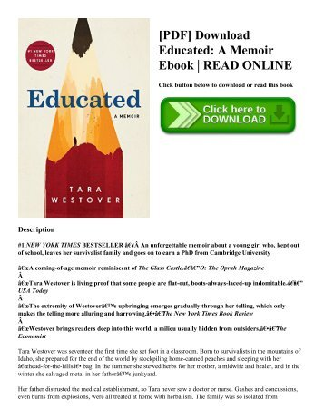 [PDF] Download Educated A Memoir Ebook  READ ONLINE