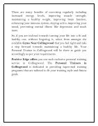 Gain Fitness under Your Personal Trainer's Assistance - Page 3
