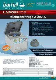 Flyer of the Week Hermle Zentrifuge Aktion Bartelt
