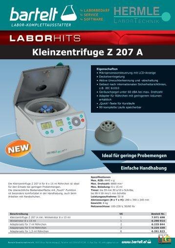 Flyer of the Week Hermle Zentrifuge Aktion Bartelt