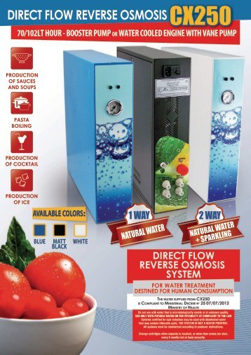 CX250 Reverse Osmosis Direct Flow 70/102lt./h