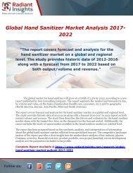 Global Hand Sanitizer Market Analysis 2017-2022