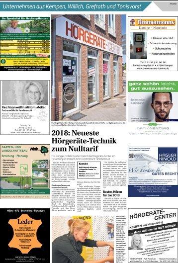 Unternehmen aus Kempen, Willich, Grefrath und Tönisvorst  -18.04.2018-