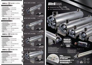 ULTRARAYS sistemi UV-C da 75W. a 440W. ITA/ENG