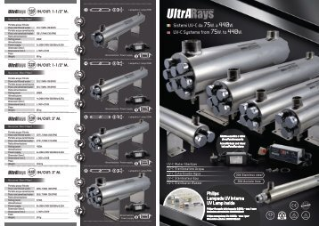 ULTRARAYS UV-C Systems from 75W. to 440W. ITA/ENG