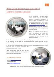With What Benefits You Can Rent a Meeting Room in Croydon