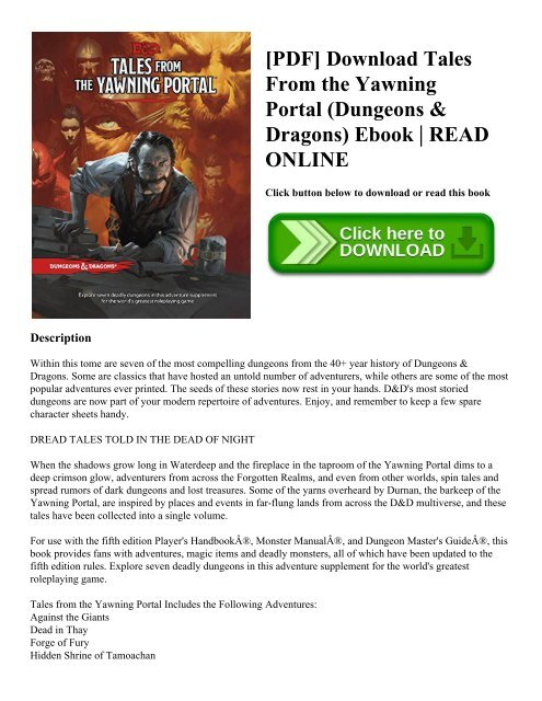 Dungeons And Dragons Fifth Edition Pdf