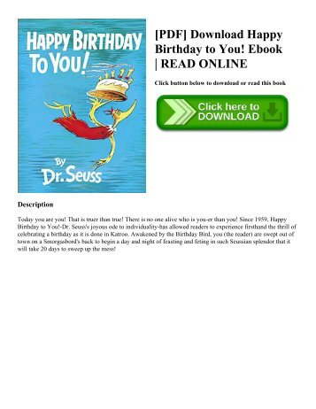 [PDF] Download Happy Birthday to You! Ebook  READ ONLINE