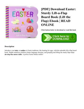 [PDF] Download Easter Sturdy Lift-a-Flap Board Book (Lift the Flap) Ebook  READ ONLINE