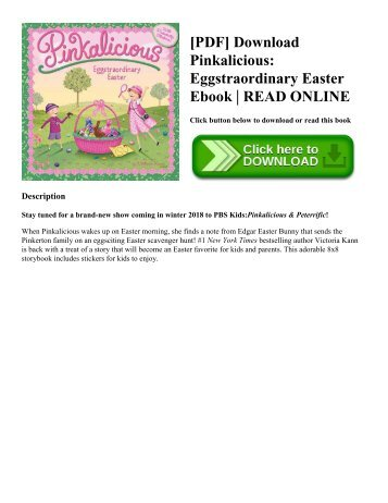 [PDF] Download Pinkalicious Eggstraordinary Easter Ebook  READ ONLINE