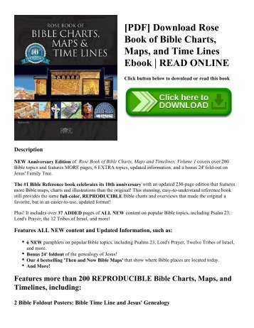 [PDF] Download Rose Book of Bible Charts  Maps  and Time Lines Ebook  READ ONLINE