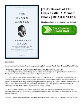 [PDF] Download The Glass Castle A Memoir Ebook  READ ONLINE