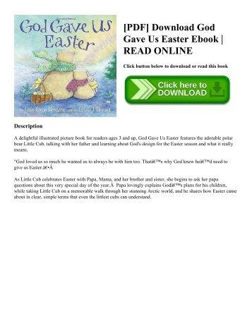 [PDF] Download God Gave Us Easter Ebook  READ ONLINE