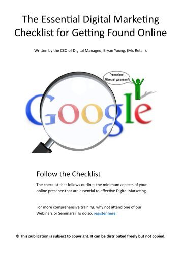 Essential Digital Marketing Checklist for Getting Found Online