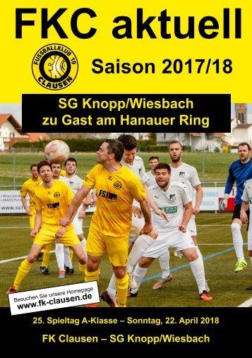 FKC Aktuell - 25. Spieltag - Saison 2017/2018